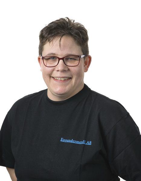 Katarina Holmberg - Anställd på expandermetall i produktionen