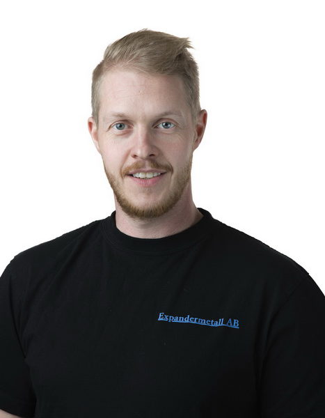 Niklas Karlsson - Anställd på expandermetall i produktionen